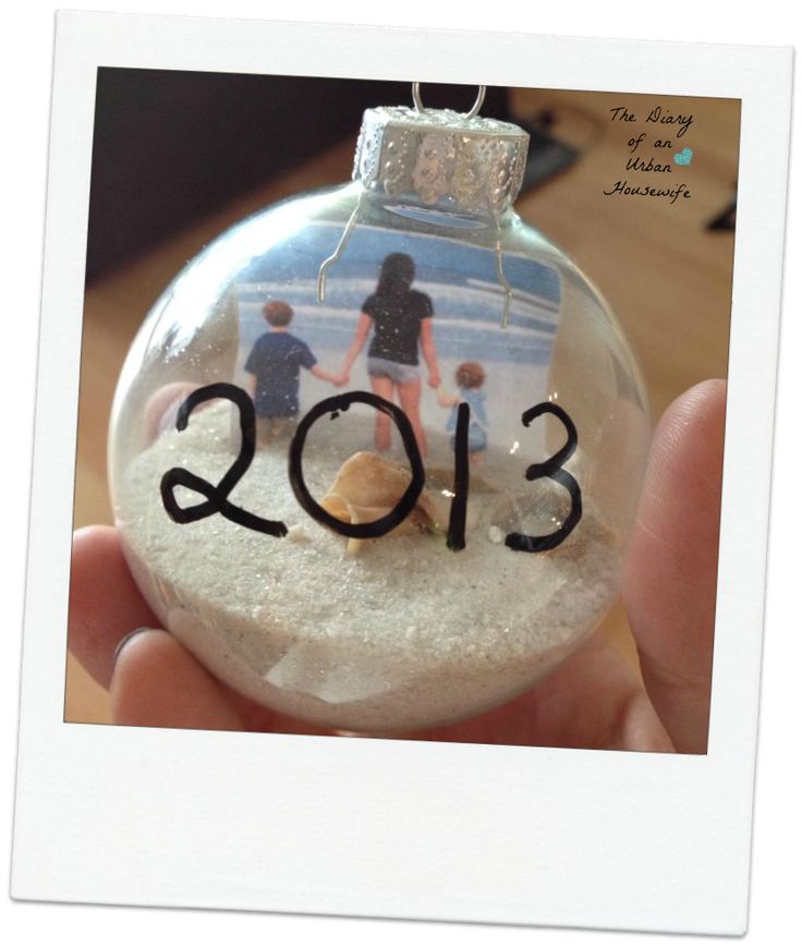 DIY Beach ornament - collect sand and a seashell from your beach trip this summer and make it into a fun ornament!