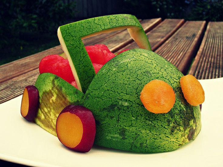 Half a watermelon car!