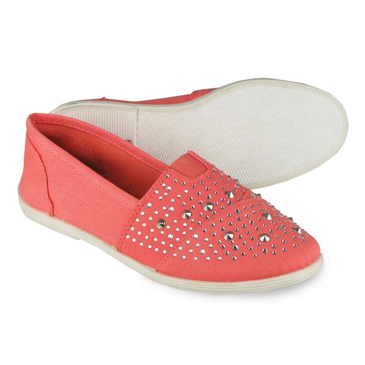 Womens Flats Soda Shoes Womens Malta Studded Flats Lt Coral 5 5 Flats Clearance Sale