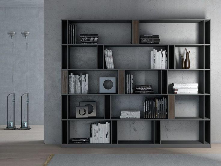 Librería abierta doble cara de madera BRERA by EmmeBi diseño Lievore Altherr Molina