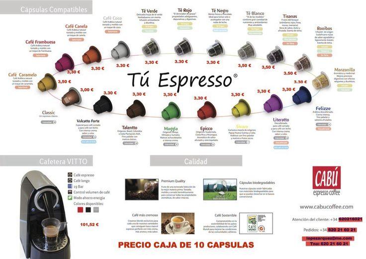 No puedes dejar pasar de probar un café Gourmet, cápsulas totalmente compatibles con Nespresso.Seguro que repetirás, como cientos de clientes lo están haciendo. Entra en www.lopez-arquez.com y haz tu pedido, te lo llevamos a tu casa...