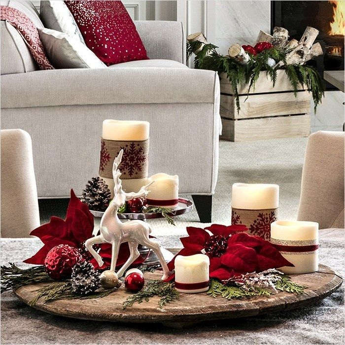 40 Best Coffee Table Christmas Decorations On A Budget Christmas Coffee Table Decor Holiday Coffee Table Decor Christmas Table Settings