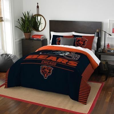 $99.99 - NFL Draft Chicago Bears Full/Queen Comforter Set - Add some sports fan pride to your bedroom by making your bed with the NFL Draft Chicago Bears Full/Queen Comforter Set. Featuring the team's logo and mascot emblazoned in signature colors, this set celebrates your love for football. Man Cave, Gift for dad