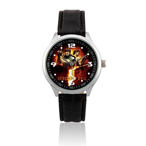 Fashion Adult Wrist Watch Leather Band PSL317 Resident Evil 5 Biohazard W ** More info could be found at the image url.(This is an Amazon affiliate link and I receive a commission for the sales) #LadiesFashionWatches