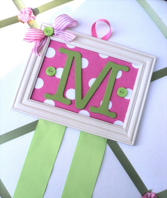Personalized Initial Hairbow Holder in by boopsydoodleboutique, $16.99
