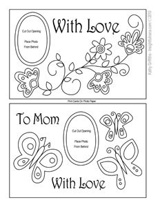 mother's day printable coloring card Printable Mother's