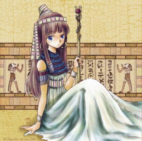 anime egyptian princess   My Heart with Egypt and Libya- really pretty artwork :)