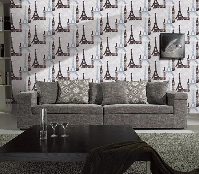 Deep embossed PVC wallpaper