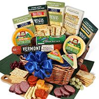 Gourmet Meat & Cheese Sampler - Deluxe http://www.planetgoldilocks.com/holiday_shopping #holidays #holidaygift #gift #giftideas #giftbaskets