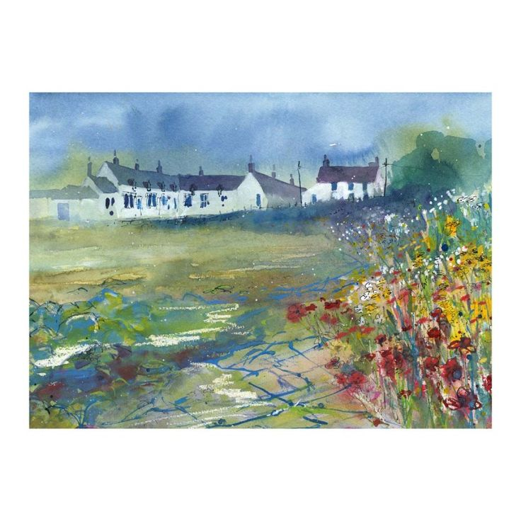 Wild Flowers at Newton Village signed limited edition print by Roy Francis Kirton