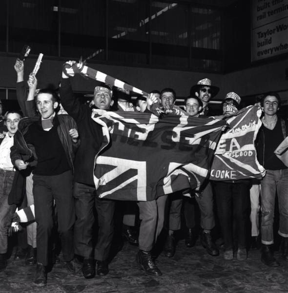 29 June 1970: A happy group of CHELSEA fans...