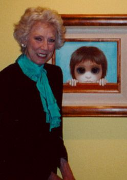 Margaret Keane - Her life story in the 7-8-75 Awake.  I don't believe her name is mentioned anywhere in the article--but you will instantly recognize her artwork (found in the index under Art: artists learn Truth)