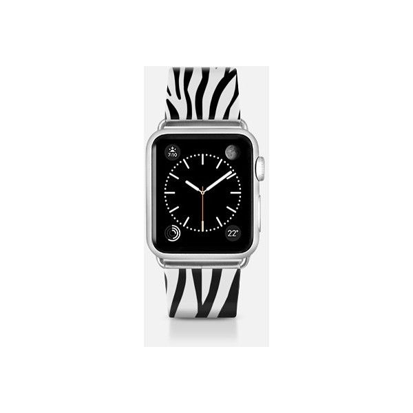 Abstract hipster black white zebra print pattern  - Apple Watch Band ($49) ❤ liked on Polyvore featuring jewelry, watches, apple watch band, hipster watches, zebra print jewelry, abstract jewelry, black white jewelry and zebra jewelry