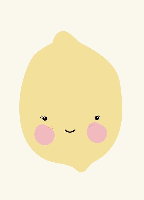 Eef Lillemor 'A3 Poster Citroen' lemon
