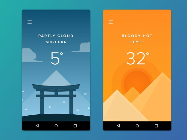 weather app - Ui Design Ideas