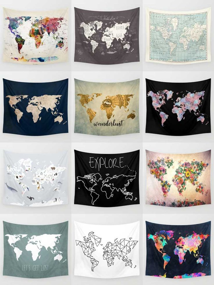 Society6 Map Tapestries - Society6 is home to hundreds of thousands of artists from around the globe, uploading and selling their original works as 30+ premium consumer goods from Art Prints to Throw Blankets. They create, we produce and fulfill, and every purchase pays an artist.