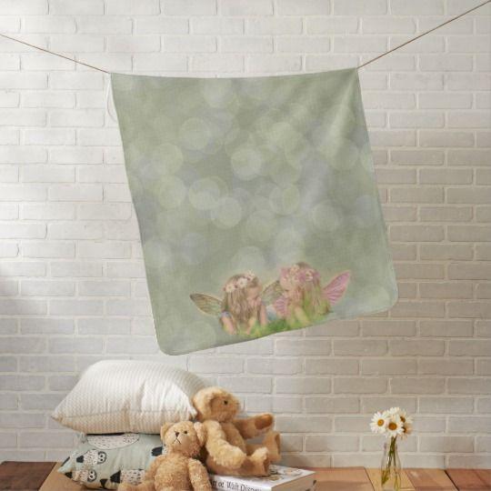 Fairy Friends Baby Blanket in Green