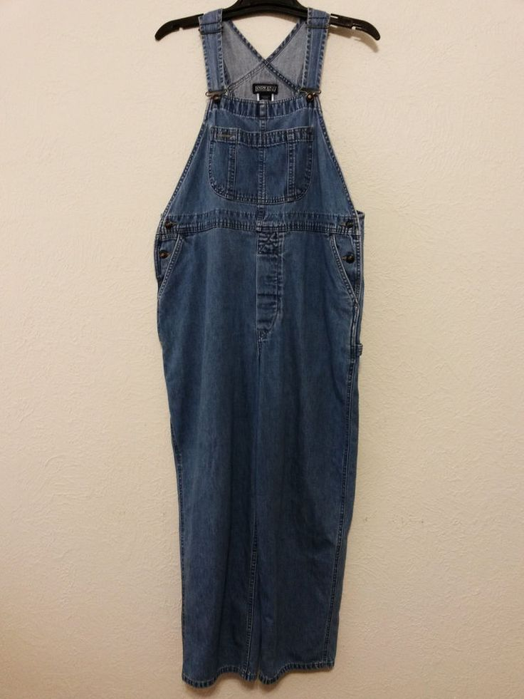 Lands End - Women's Overalls - Size L 14-16 - Carpenter Bib Overalls - Denim Blue Jean Pants #LandsEnd #CarpenterOveralls ..... Visit all of our online locations.....  www.stores.eBay.com/variety-on-a-budget .....  www.amazon.com/shops/Variety-on-a-Budget .....  www.etsy.com/shop/VarietyonaBudget .....  www.bonanza.com/booths/VarietyonaBudget .....  www.facebook.com/VarietyonaBudgetOnlineShopping
