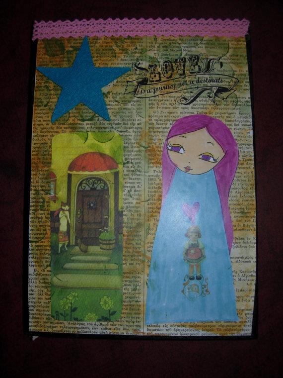 The Paper Doll Journal Nr2  Original artwork covered by eltsamp, $40.00