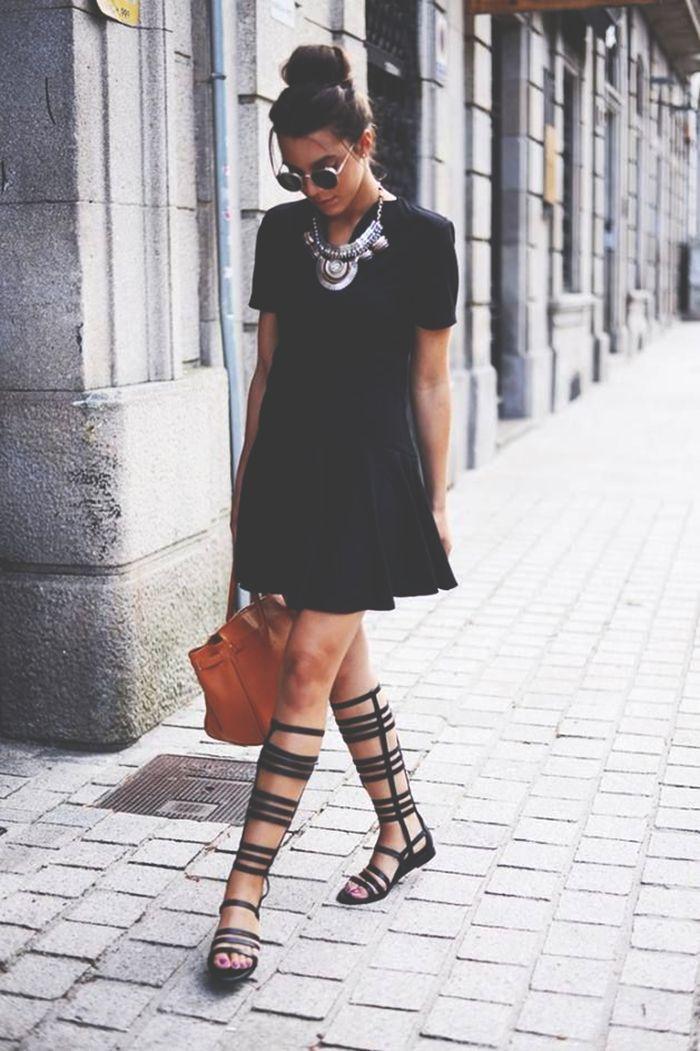 gladiator , gladiator sandals, trendy, sandalia gladiador, tendencia, fashion, moda, outfit, look, style, street style, inspiration, looks, inspiração, black, preto, classy, chic