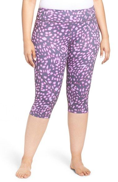 Free shipping and returns on Zella 'Live In 2' Slim Fit Capris (Plus Size) at…