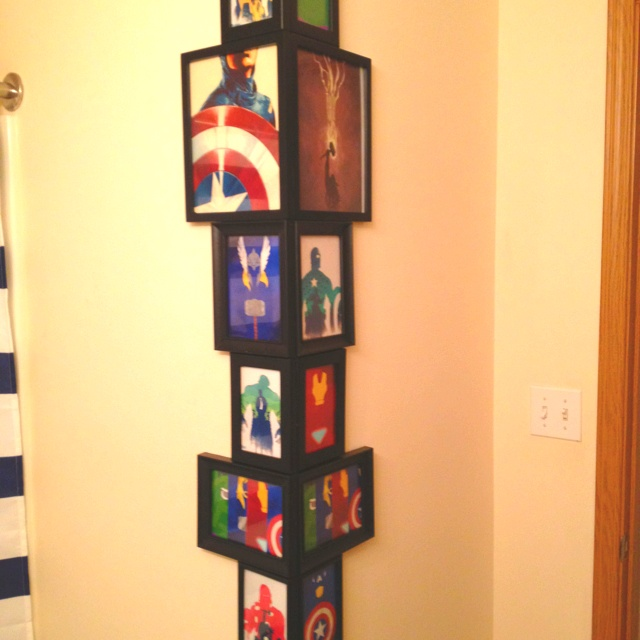 17 best images about boys bathroom ideas on pinterest captain america canvases and avengers - Avengers room decor ideas ...