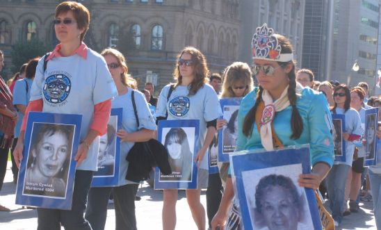 Vigil to honour missing and murdered Indigenous women, Ottawa 2007