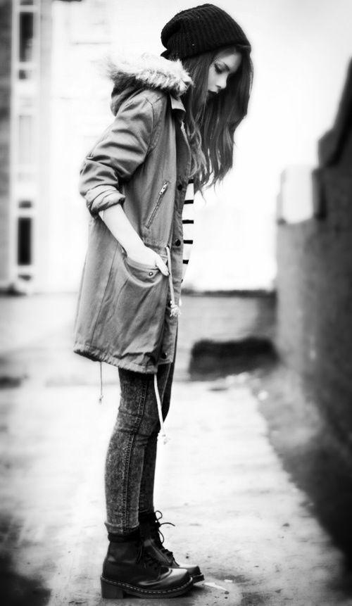 スキニー×Dr.Martensの靴。正しい履き方コーデまとめ