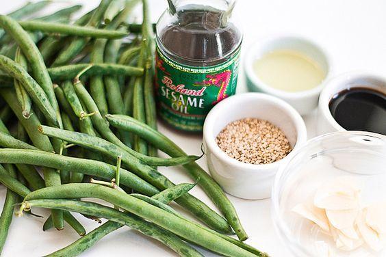 Sesame String Beans ingredients