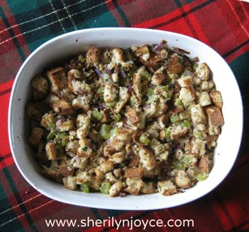 """Gluten Free Christmas Stuffing. Find this recipe and many more in my FREE ebook """"The Gluten Free Holiday Survival Guide"""" ---> http://sherilynjoyce.com/gluten-free-holiday-recipes/"""