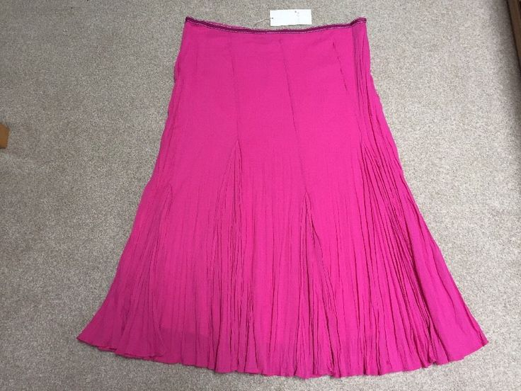 "M&S PER UNA Ladies Summer Skirt UK14 EU42 Length 35"" or 89cm BNWT RRP£45 Pink"