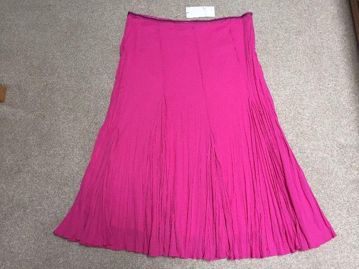 M&S PER UNA Ladies Summer Skirt UK18 EU46 Length 35  or 89cm BNWT RRP£45 Pink