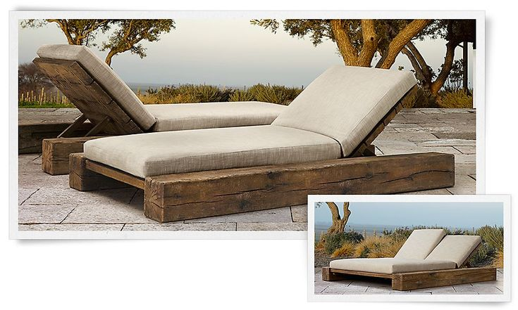 Rustic outdoor lounge chairs | Restoration Hardware