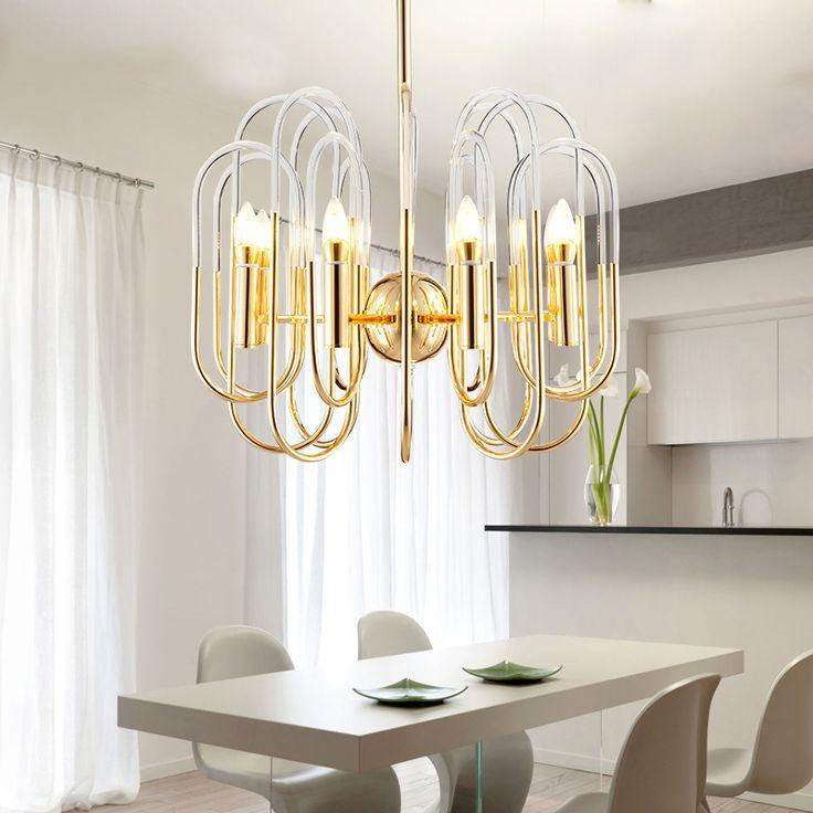 Купить товарNordic краткое люстра сообщение современные творческий акриловые подвесные лампы трубы инжиниринг вилла лампы в категории  на AliExpress.
