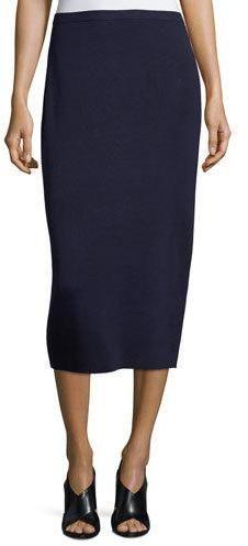 Eileen Fisher Washable Silk/Cotton Midi Pencil Skirt, Plus Size