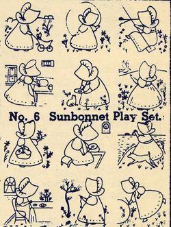 Image detail for -Vintage Embroidery Sunbonnet Sue Quilt Transfers 30s!