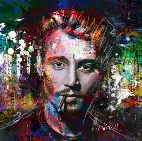 yossi kotler art jony depp. giclee print by yossikotlerart on Etsy