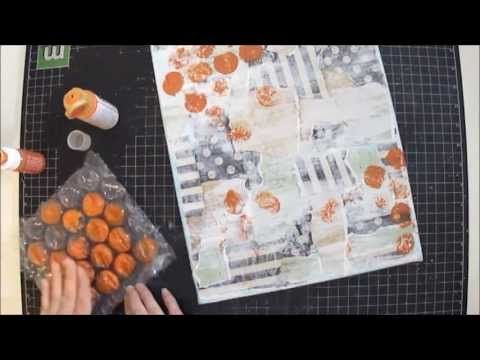Mixed Media Art Canvas Collage ~ MBT Project - YouTube