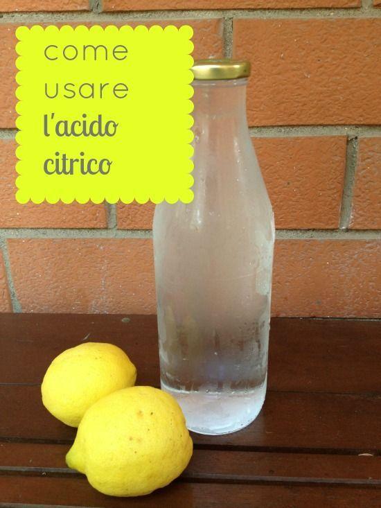 come usare l'acido citrico
