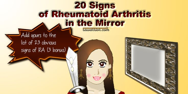 20 signs of rheumatoid arthritis