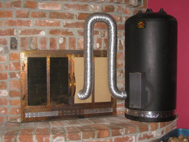A home water heater tank turned into a home heater. Photo by Rob Steves.