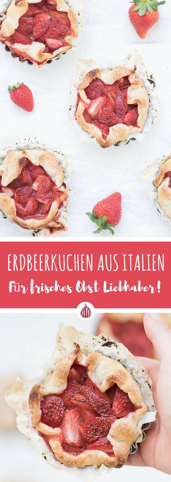 Erdbeertarte mit buttrigen Mürbeteig-Boden. So lecker! #italienisch #kochen #theblackfig