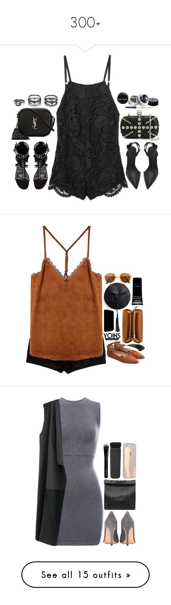 """300+"" by emilypondng ❤ liked on Polyvore featuring Stone_Cold_Fox, Yves Saint Laurent, LULUS, Alexander Wang, Alexander McQueen, DayToNight, romper, L'Agence, Nine West and Gianfranco Ferré"