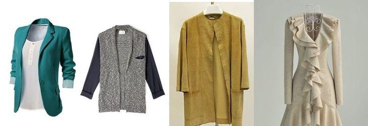 NIE!!! długie kurtki, kamizelki bezwymiarowe, zbyt kobiece kurtki.