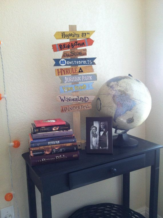 disney office decor. create your own fandom directional sign for home or office by doctorandthecat disney decor e