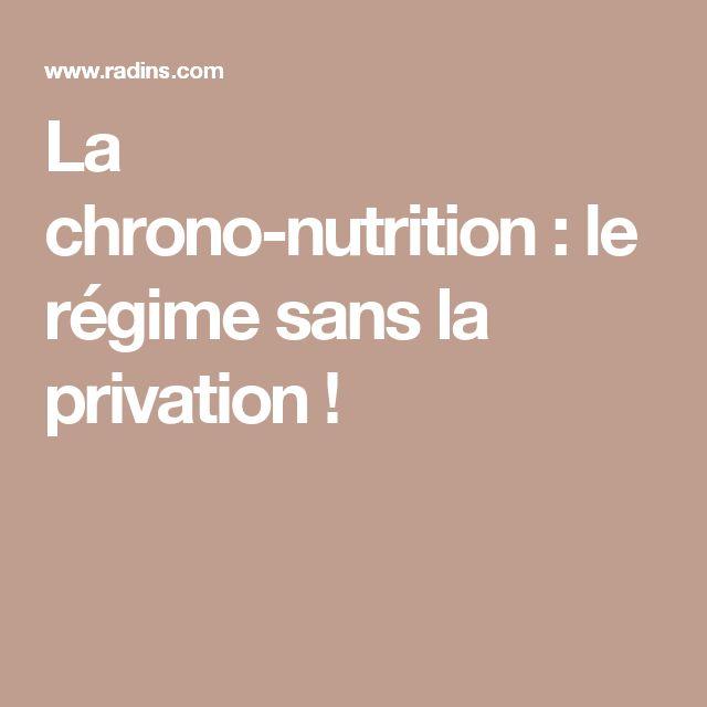 La chrono-nutrition:le régime sans la privation!