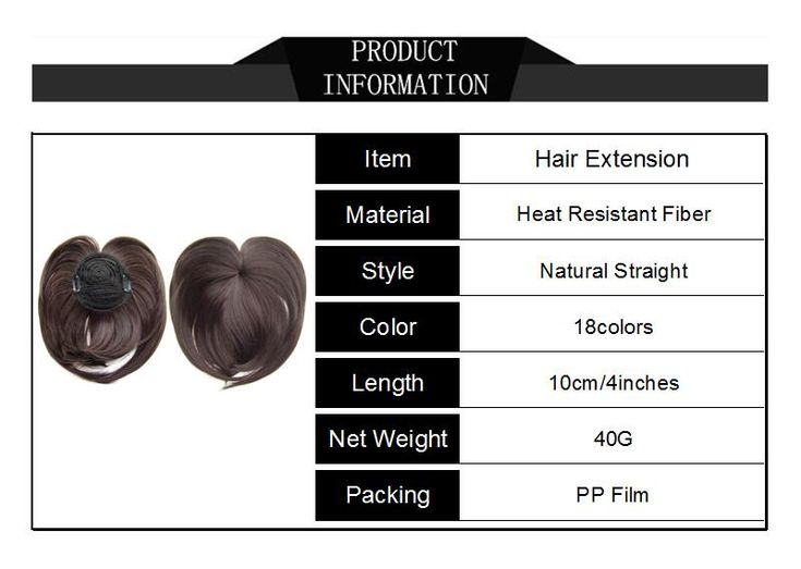 Soloowigs Natural Straight Synthetic Hairpieces High Temperature Fiber 18 Colors Women Clip in Middle Parting Bangs. Click visit to buy #SyntheticExtensions