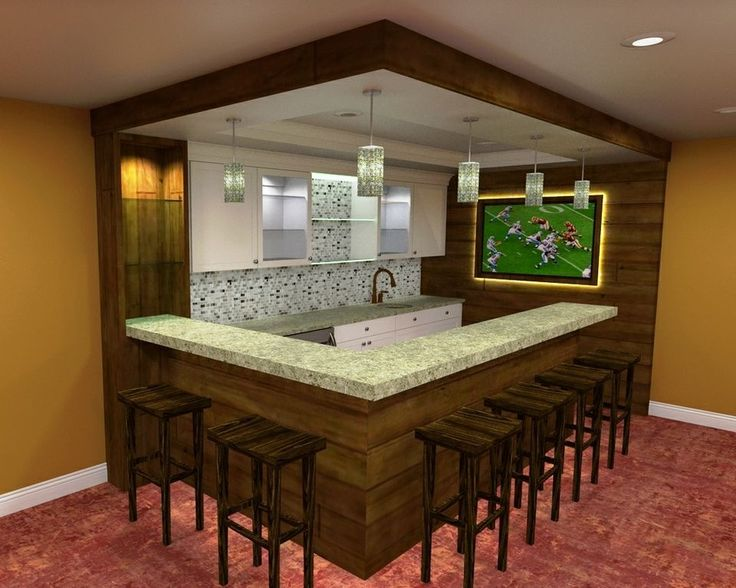 Build a Bar Layout | ... Design Build Basement Remodeling Project – Rendering of the Bar Area