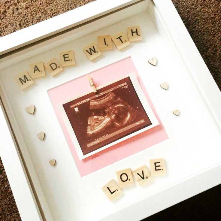 Made with love baby girl scan photo scrabble frame https://www.facebook.com/Lovely-Letters-440588519458561/