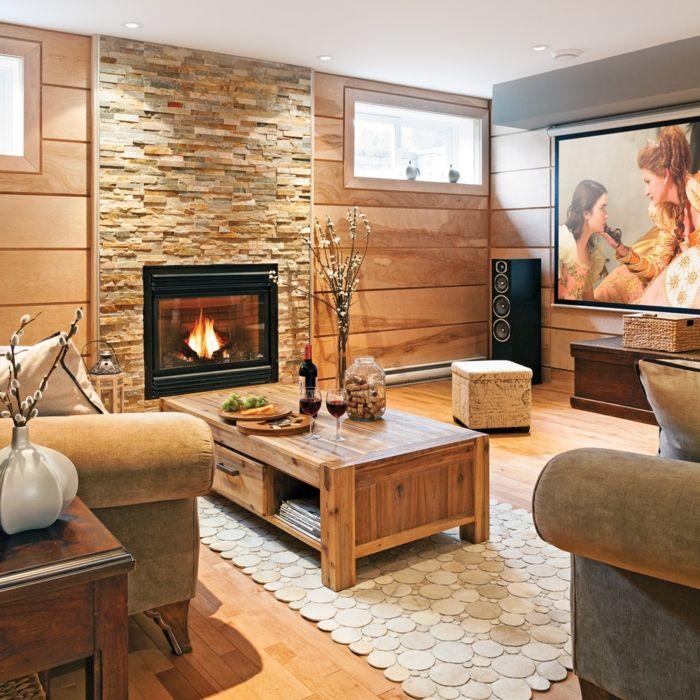 1001 ideas sobre salones acogedores con chimeneas de le a - Salones con chimeneas ...